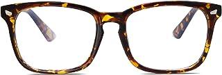 SOJOS Blue Light Blocking Glasses Square Eyeglasses Frame Anti Blue Ray Computer Game Glasses for Women Men Crazy Work SJ5028