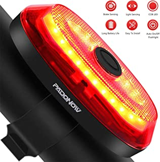 Smart Bike Tail Light: Ultra Bright Automatic Break Light Easy Mount Cycling Safety Taillight Red Led Auto On/Off Light Sense High Lumen Flashlight USB Rechargeable Brake Sensing Bicycle Rear Lights