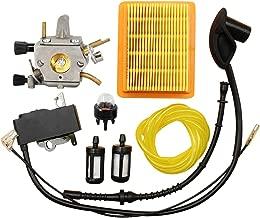 KEONG FS120 Carburetor Carb for STIHL FS200 FS250 FS300 FS350 BT120 BT121 FR350 FR450 FR480 Trimmer Weedeater Brush Cutter Primer Bulb Fuel Line Kit Ignition Coil with Air Filter