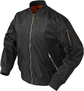 Men's Winter Flight Bomber Jacket with Zipper Pockets Thicken Warm Baseball Jacket