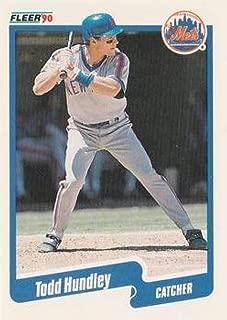 1990 Fleer Update Baseball #U-36 Todd Hundley RC Rookie Card New York Mets Official MLB Trading Card