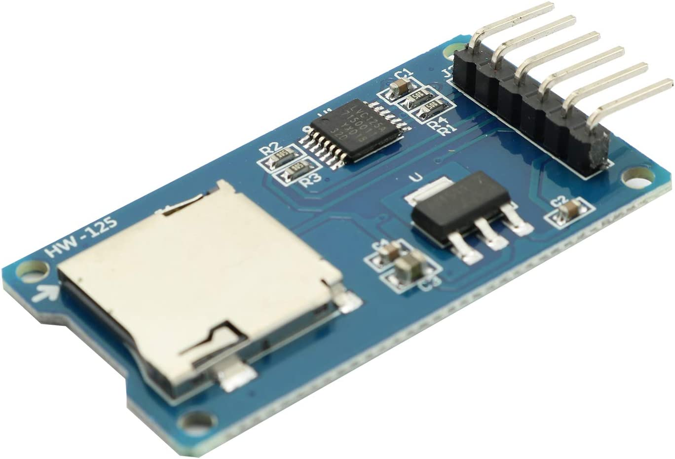 Maxmoral 2PCS Micro SD Storage Board Memory Shield Expansion Module 6 Pin SPI Interface Mini TF Card Adapter Reader