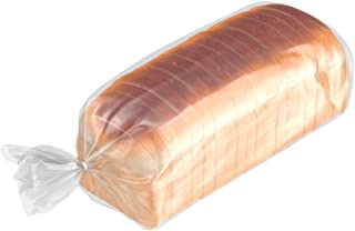 APQ Pack of 100 Poly Bakery Bread Bags 8 x 4 x 18 Clear Gusseted Bags 8x4x18 Polyethylene Bags Thickness 0.65 Mil Poly Bag...