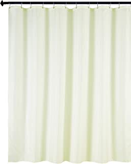 Biscaynebay Fabric Shower Curtain Liners Water Resistant Bathroom Curtain Liners, Ivory 72 by 72 Inches