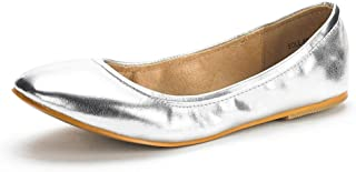 Women's Sole-FINA Solid Plain Walking Classic Ballet Flats Shoes