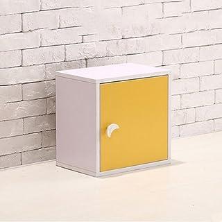 Bibliothèque ZAIYI étagères étagère Armoires Bibliothèque étagères De Rangement Placard De Rangement,Yellow-31*24*31cm