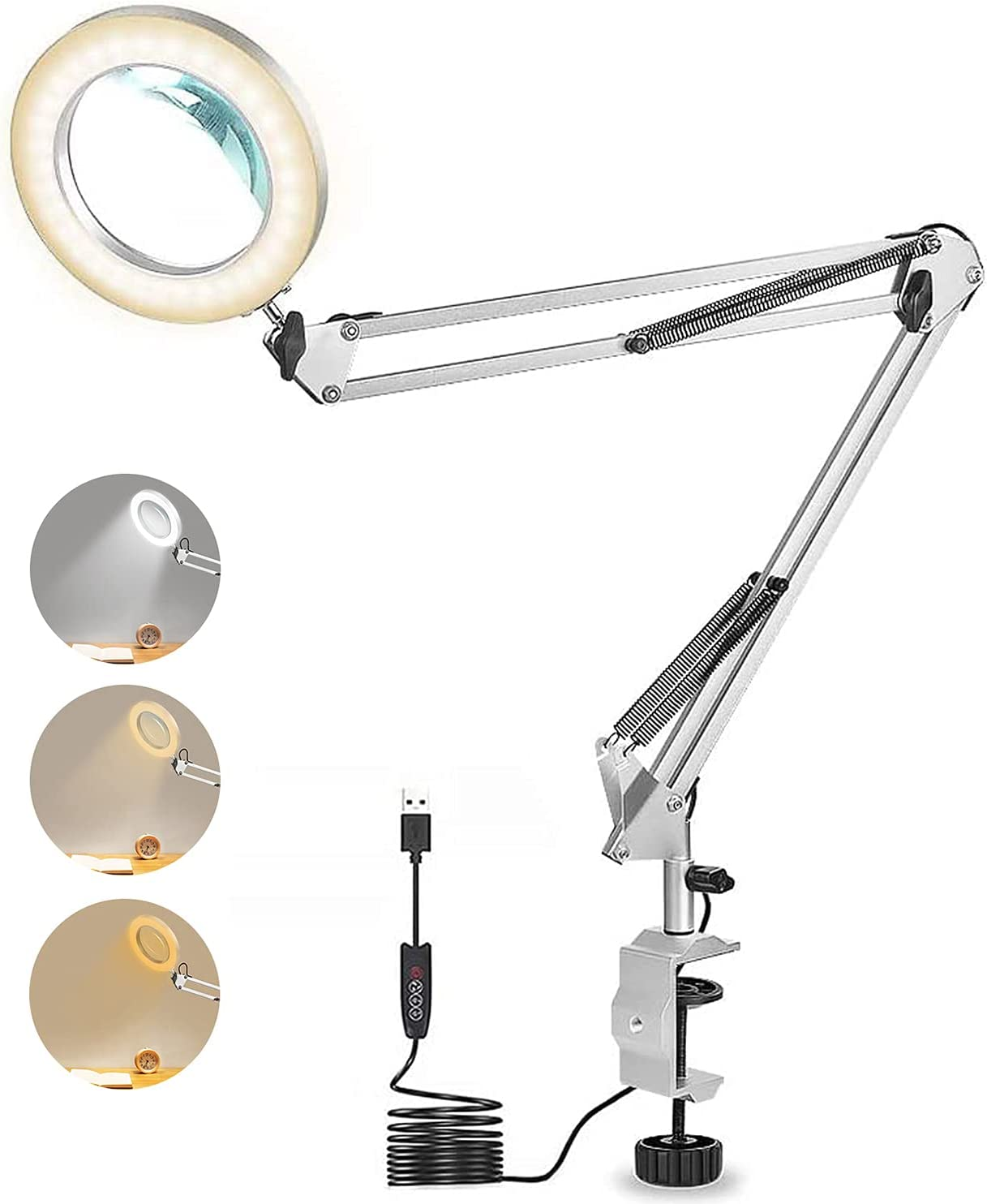 Magnifying Desk Lamp New Orleans Mall All stores are sold with Clamp Glass LED 3 Magnifier