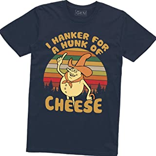 I Hanker for A Hunk of Cheese Vintage Retro T-Shirt Time for Timer