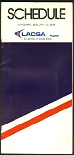 LACSA Lineas Aéreas Costarricenses airline timetable 1/1 1978