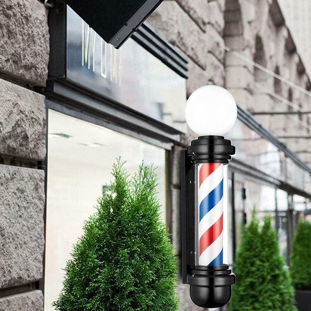 30'' Salon Barber service Pole Light Blue White Red Rotating Ranking TOP8 LED