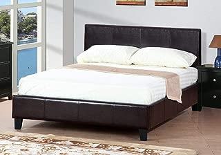 Poundex Queen Platform Bed Frames, Brown