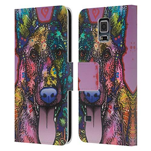 Head Case Designs Oficial Dean Russo Ninja Perros 4 Carcasa de Cuero Tipo Libro Compatible con Samsung Galaxy S5 / S5 Neo