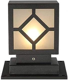Rural Landscape Column Light External Square Pillar Light Frosted Glass Outdoor Garden Post Lamp Lantern Waterproof IP54 B...