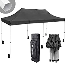Instahibit 10x20 ft Pop Up Canopy Tent Commercial Ez up Canopy Shade for Trade Fair Party Tent with 1680D Roller Bag
