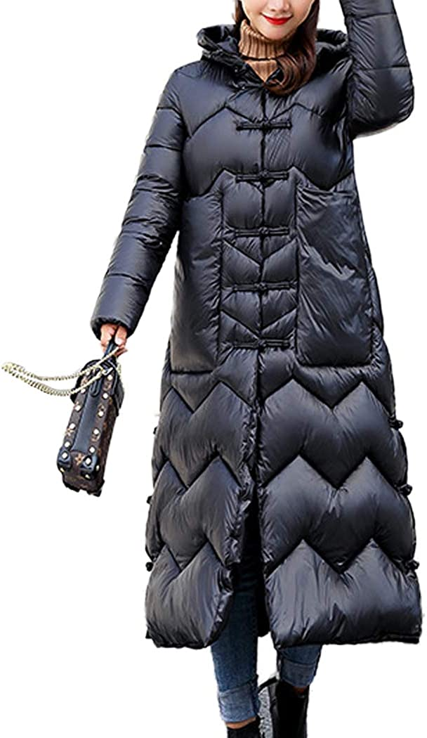 BINGMAX Women's Winter Warm Long Hooded Jacket Slim Cotton with Today's only Outstanding