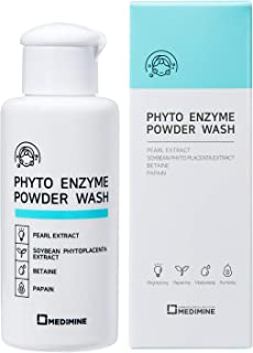 MEDIMINE Enzyme Powder Wash 1.7oz- Dermatologist-Tested,Papaya Cleanser,Paraben-Free,Petroleum-Free,Ance Face Wash,Face Scrub,Exfoliates,Blackhead Dissolving Face Wash For Sensitive and Trouble Care