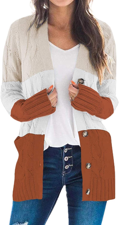 Acelitt Women's Dolman Long Sleeve Cardigan S Special sale item Outstanding Open Knitted Front