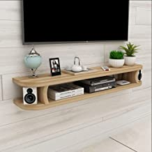 Floating Shelf Wall Tv Cabinet Wall Background Storage Shelf Open Shelf with Drawer for DVD Satellite Tv Box Cable Box,Bro...