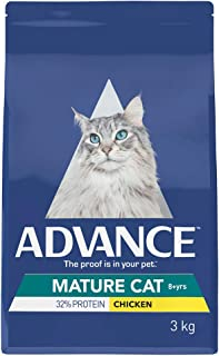 Advance Mature Cat Dry Food, Adult and Senior, Chicken, 3kg