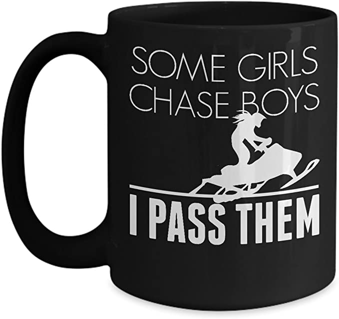 Snowmobile Mug Women Snowmobiling Snow Rider Girl Gift Coffee Cup Kitchen Dining