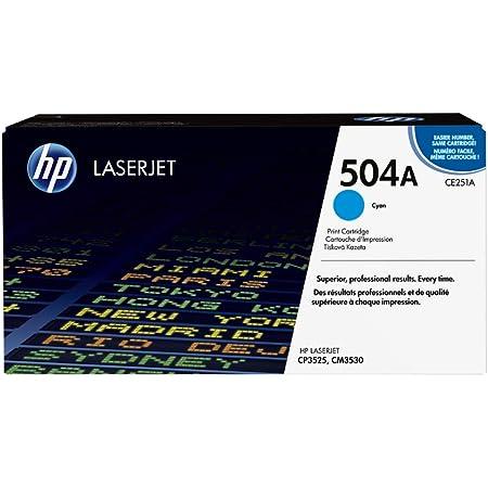 Hp 504a Ce251a Blau Original Toner Für Hp Color Laserjet Cp3525 Hp Color Laserjet Cm3530 Bürobedarf Schreibwaren