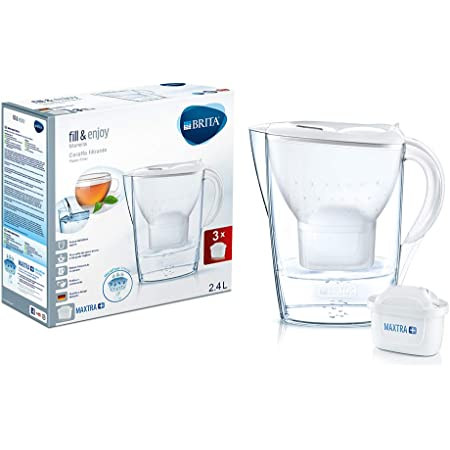 Brita Marella Kit carafe avec 3 filtres Maxtra+ inclus, plastique san, plastique, blanc, 2,4 l