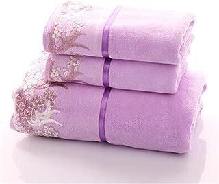 YIH Fade-Resistant 6-Piece Bath Towel Set Purple, Premium Luxury Hotel & Spa Quality, Kitchen and Bathroom Towels, 2 Bath Towels And 4 Hand Towels