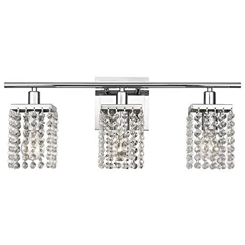 3 Light Crystal Bathroom Vanity Light