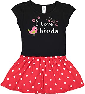 I Love Birds Pink Toddler Dress