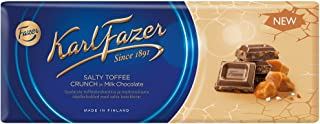 Karl Fazer Blue - Salty Toffee Crunch in Milk Chocolate - Bar 200g