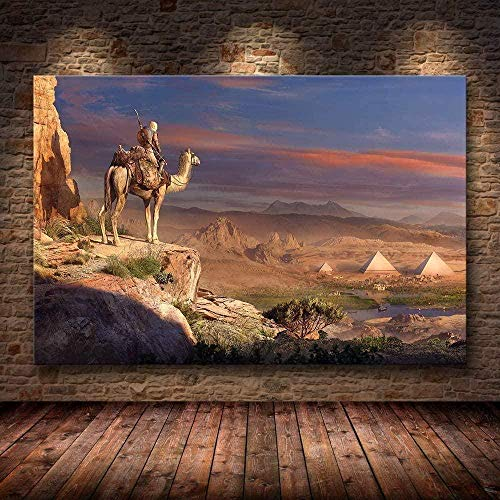 ZZMMUW Adult Puzzle 1000 Stück Puzzle 3D Holzposter Assassin S Creed Odyssey Origins Klassisches Puzzle DIY Collection Moderne Wohnkultur