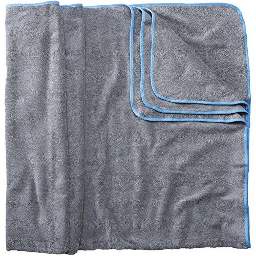 Sowel® Badetuch Groß, 200 x 160 cm, 100% Bio-Baumwolle, Strandtuch XXL, Flauschig, Grau/Blau