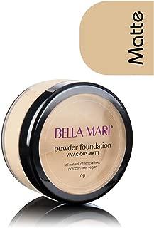 Bella Mari Natural Mineral Powder Foundation, Vivacious (Warm); 0.2oz