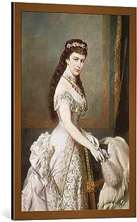 kunst für alle Framed Art Print: Hermann Nigg Empress Elisabeth Portrait H Nigg - Decorative Fine Art Poster, Picture with Frame, 21.7x33.5 inch / 55x85 cm, Copper Brushed