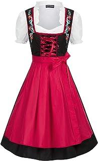 SCARLET DARKNESS Women's Bavarian Oktoberfest Crop Top Dirndl Tops German Blouse