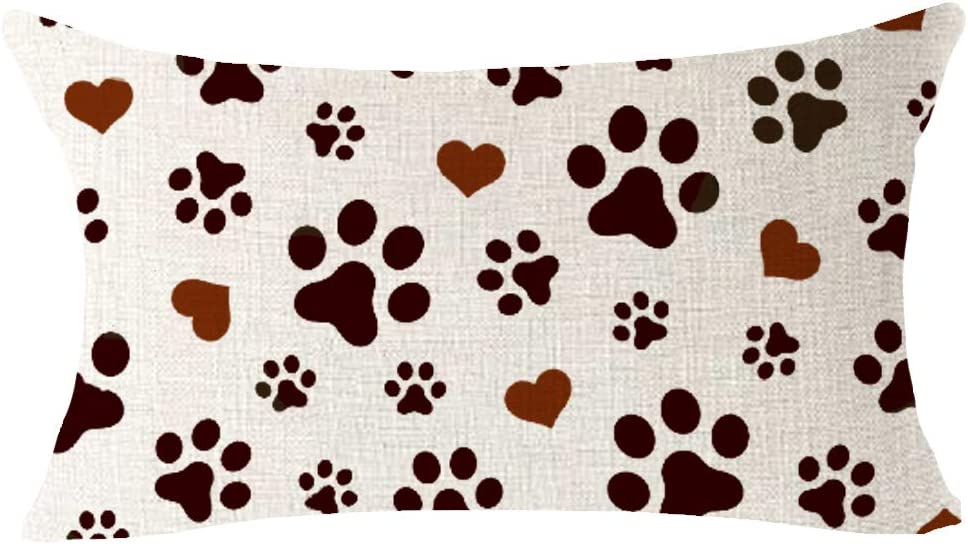Paw Print Love OFFer Pattern Best Gift safety for Animal Cute Pet Lumbar Dog