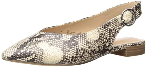 The Drop Tara flache Slingback-Schuhe mit spitzer Zehenpartie