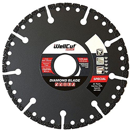 WELLCUT 333-125/22 Diamond Blade Special Plastic 125mm x 22mm Boor 0,23