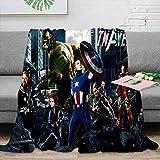 Elliot Dorothy Superhero Vengadores Iron Man Captain America Hulk Manta de forro polar de tamaño doble, manta de felpa de 152 x 127 cm