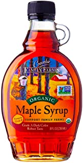 Coombs Family Farms 100% Pure Organic Maple Syrup Grade A Amber Rich, 8 Fl Oz
