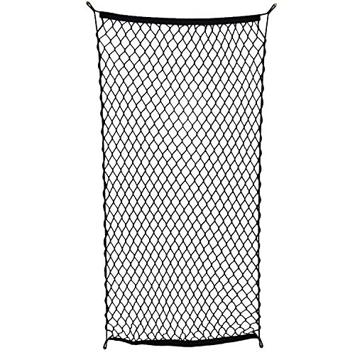 ABN Cargo Net with Fasteners and Hardware, 24 x 45in (Stretches to 60in Long)
