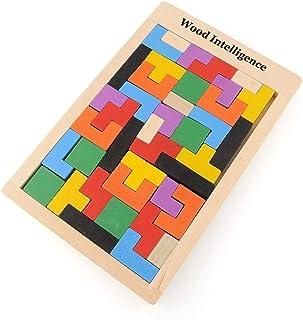 comprar comparacion Flybiz Puzzle de Madera Tetris,Tangram Rompecabezas Juego Juguetes educativos (40 Piezas),Jigsaw Puzzle Tetris del Juguete...