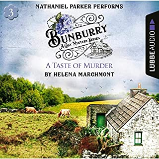 A Taste of Murder     Bunburry - A Cosy Mystery Series 3              Written by:                                                                                                                                 Helena Marchmont                               Narrated by:                                                                                                                                 Nathaniel Parker                      Length: 2 hrs and 42 mins     3 ratings     Overall 4.0