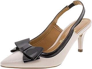 Sapato Feminino Chanel Vizzano - 1185176 Bege/preto