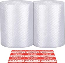 Bubble Cushioning Wrap - Bubble Cushioning Wrap for Moving with Perforated Every 12'', Easy to Tear, Small Bubble, Thicker & Durable forPacking, Delivering & Moving (12'' x72 Feet, 36'/Roll)