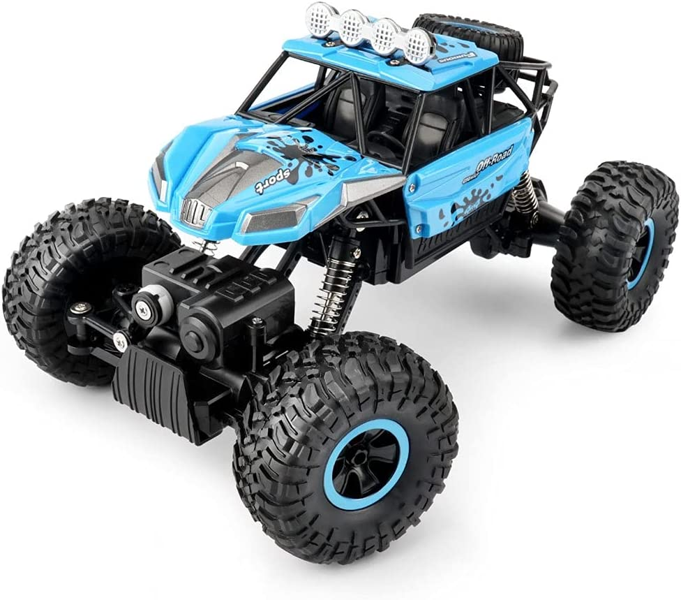 Nsddm Sale Bombing new work 1 18 Scale 4x4 Big Car Control Remote Off-Road Blue Tires