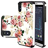 HTC Desire 630 Case, HTC Desire 530 Case, Harryshell(TM) Shock Absorption Drop Protection Hybrid Dual Layer Armor Defender Protective Case Cover for HTC Desire 630/530 (C-3)