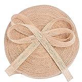 50M x 1.5CM Cinta de Arpillera Cinta de Yute Natural para Envolver Regalos Navidad Boda Manualidades Artesannia