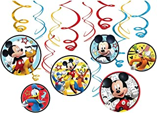 Amscan Mickey on The Go Hanging Swirl Decorations