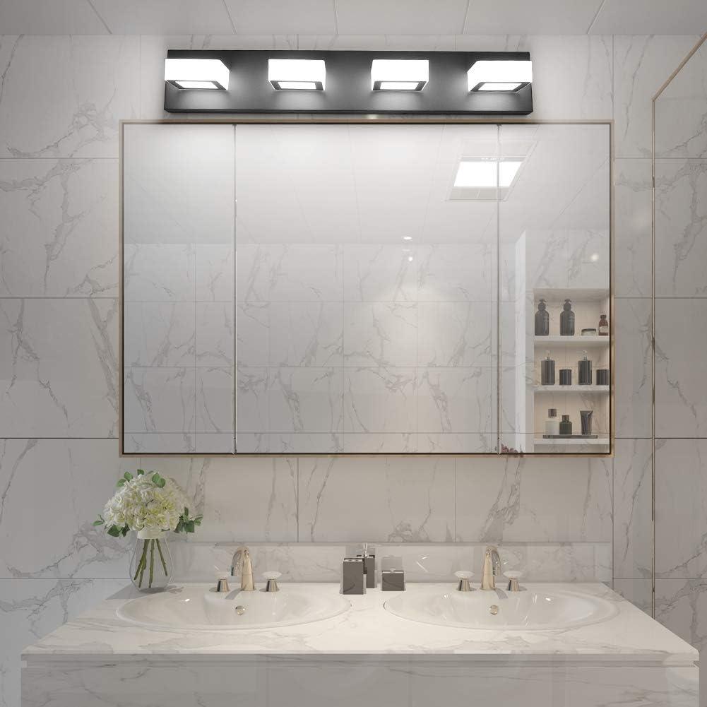 Buy Ralbay Led Black Vanity Lights 4 Lights Acrylic Bathroom Vanity Lighting Fixtures Modern Matte Black Bathroom Vanity Lights Online In Indonesia B08h81zcck